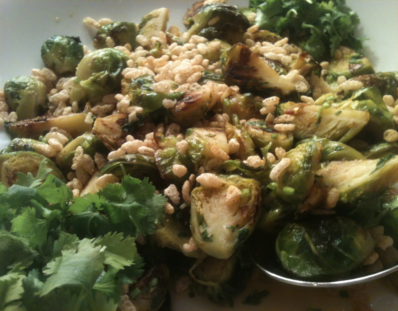 ... : Roasted Brussels Sprouts with Chili, Lime, and Cilantro Vinaigrette