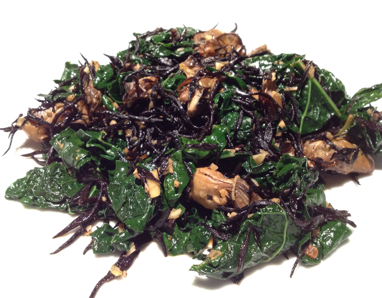 Eat to Beat: Kale with Seaweed, Smoked Oysters, and Sesame