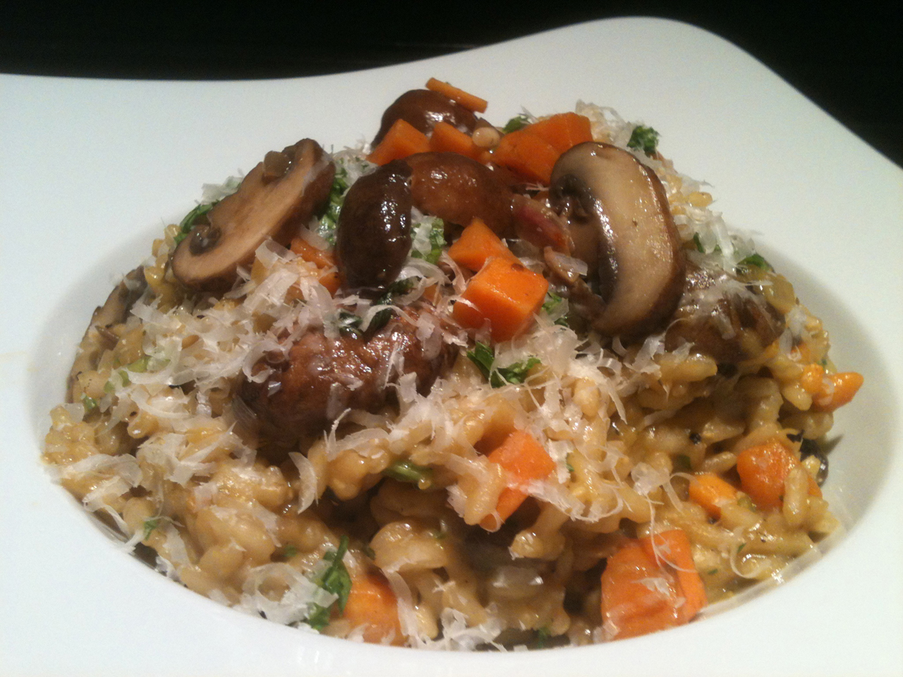 Eat to Beat: Risotto with Mushrooms and Sweet Potato